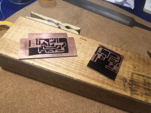 マイクロアンプ基板とミキサー基板