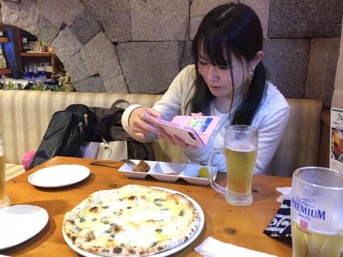 ピザを食べました