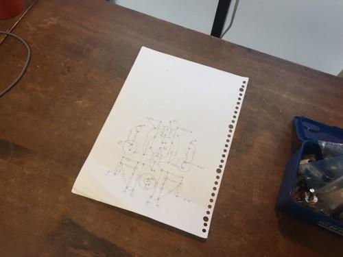 基板の実体配線図