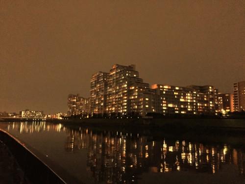 隅田川テラスの夜景がきれい