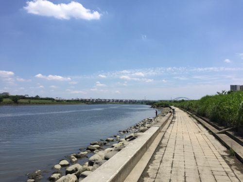 干潮の荒川