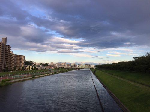 満潮の新河岸川